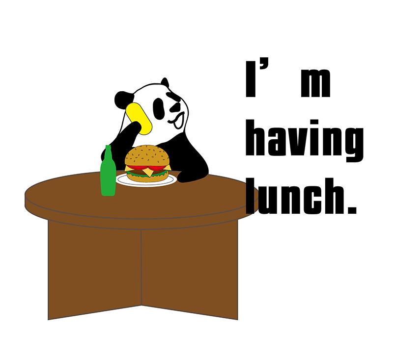 I'm having lunch 絵