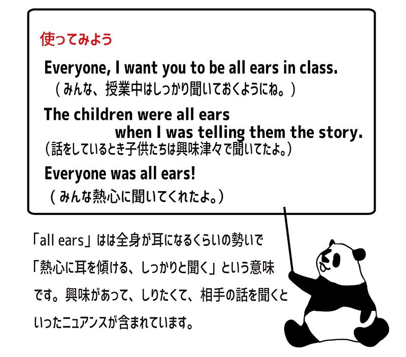 all earsの使い方