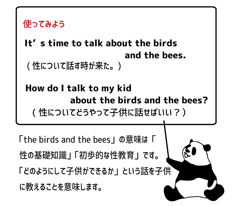 the birds and the beesの使い方