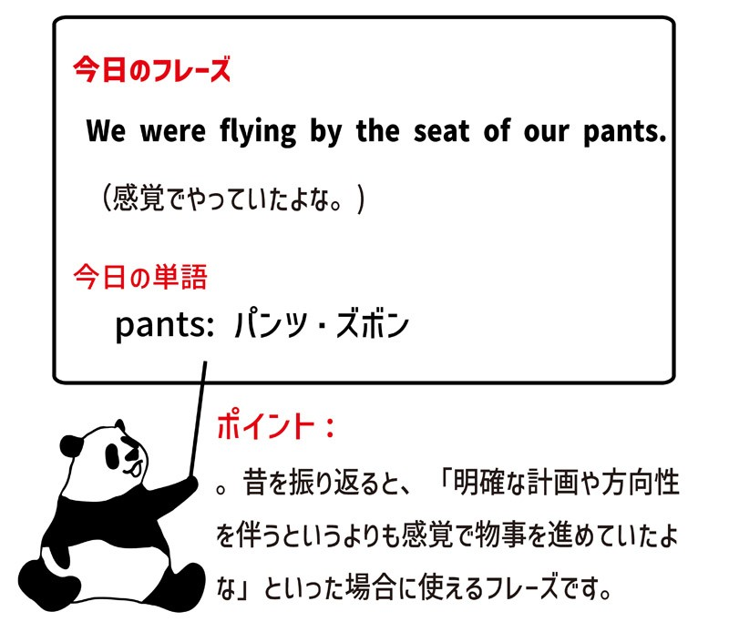 by the seat of one's pantsのフレーズ