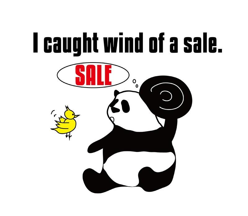 catch wind of のパンダの絵