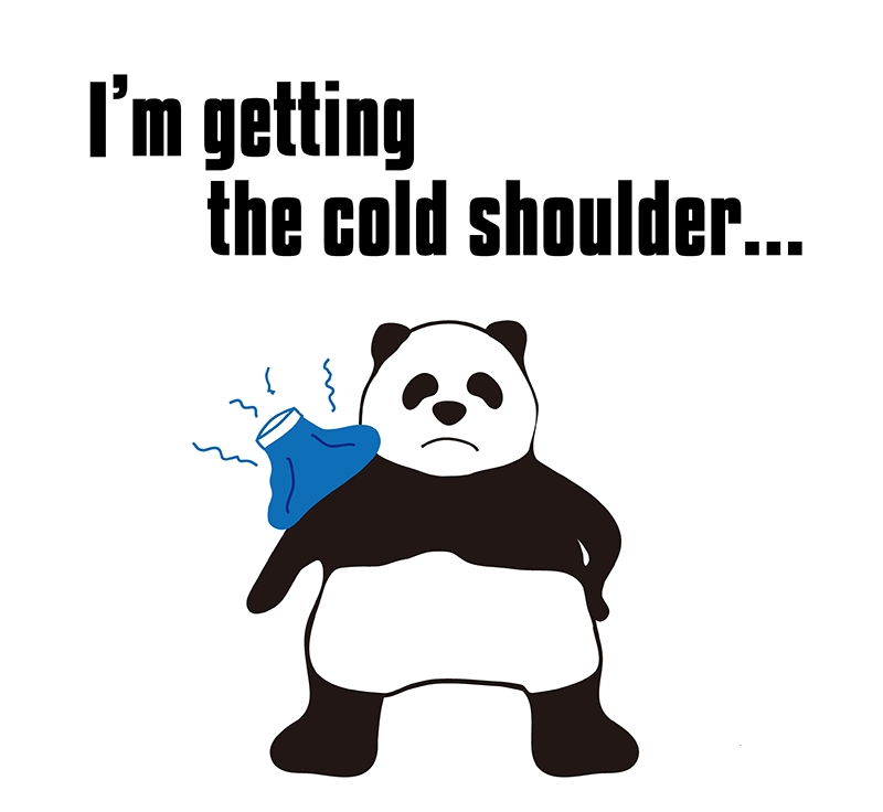 get the cold shoulderのパンダの絵