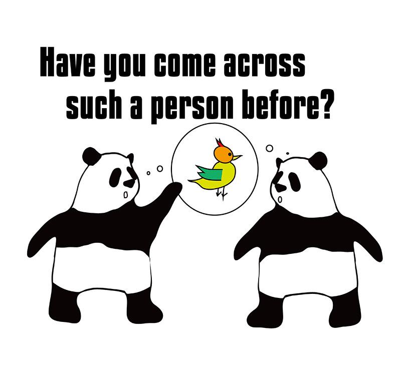 come acrossのパンダの絵