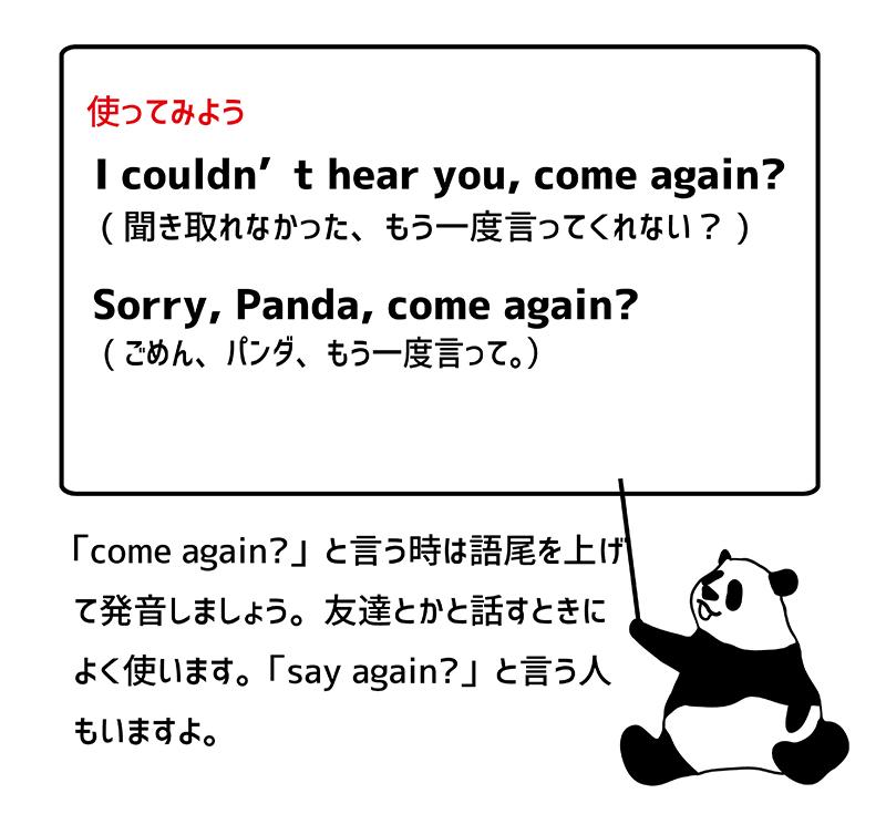 Come again? 例