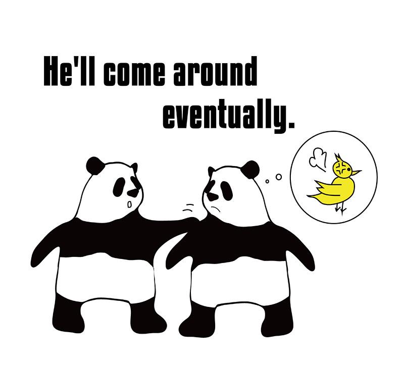 come around のパンダの絵