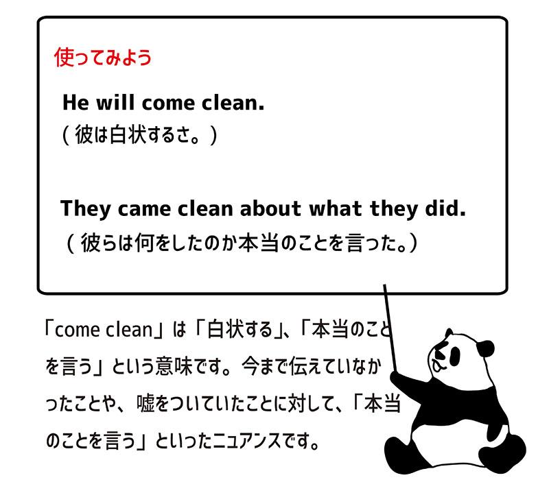 come cleanの使い方