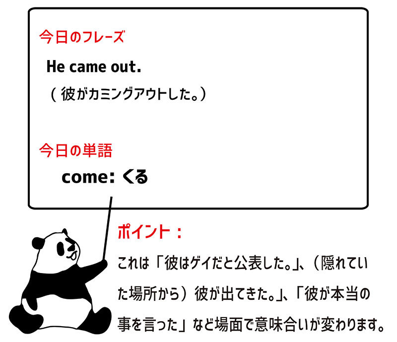 come outのフレーズ