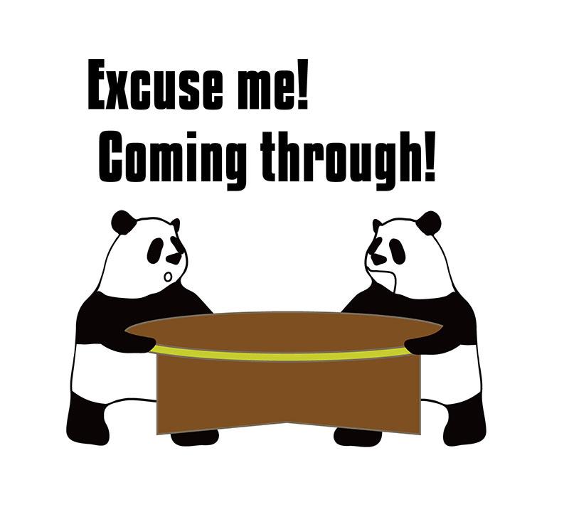 come throughのパンダの絵
