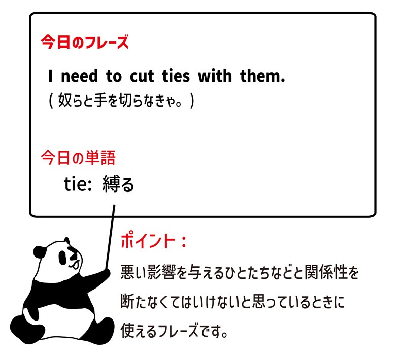 cut ties withのフレーズ