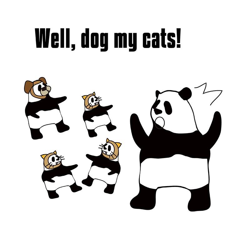dog my catsのパンダの絵