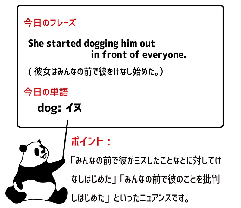 dog outのフレーズ