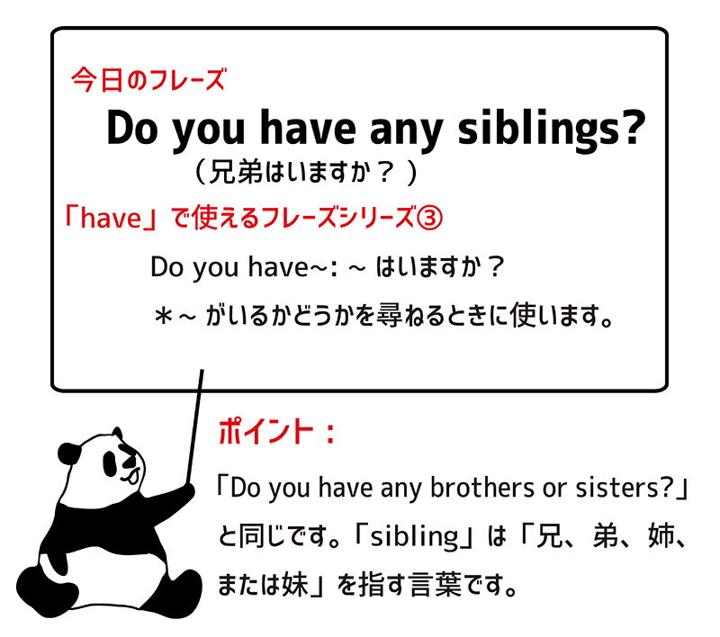 Do you have any siblings? ポイント