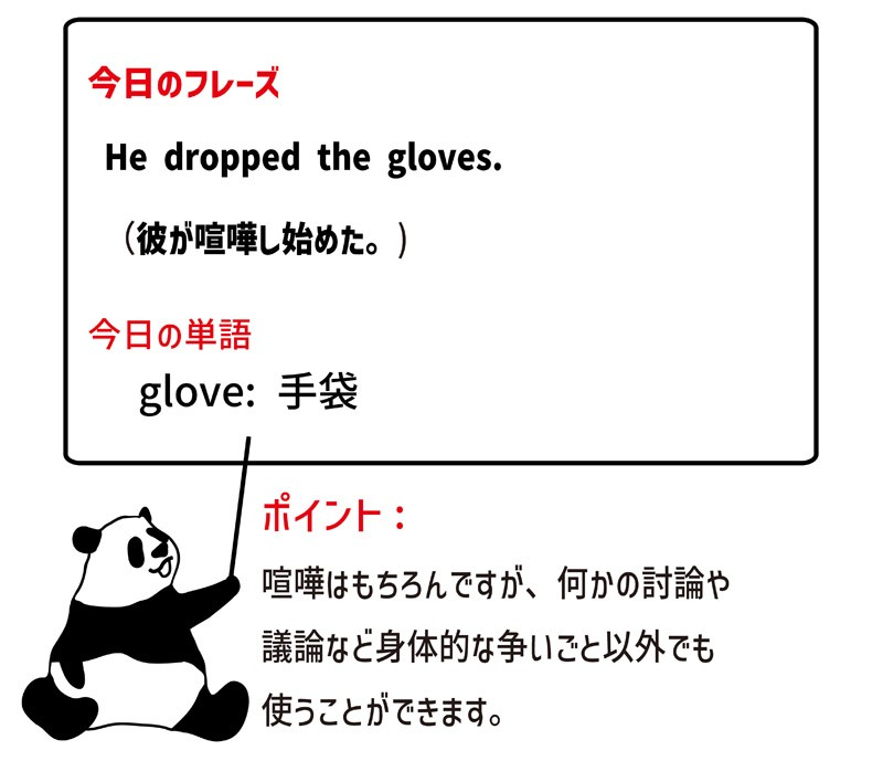 drop the glovesのフレーズ