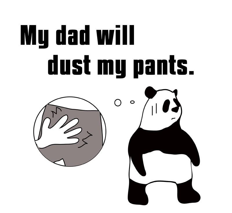 dust one's pantsのパンダの絵