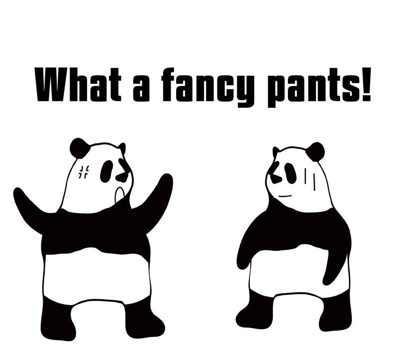 fancy pantsのパンダの絵