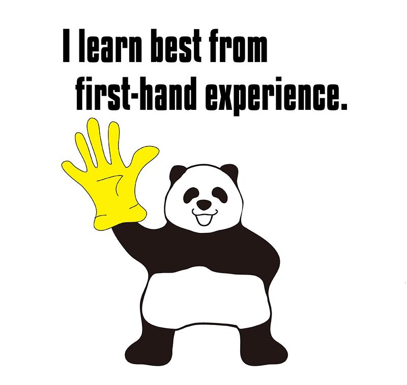 first-handのパンダの絵