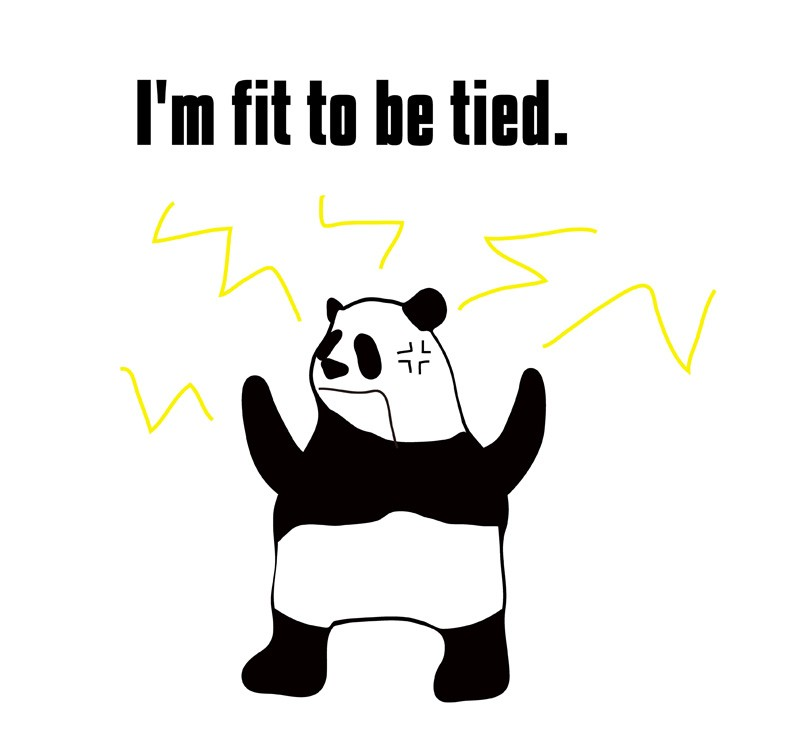fit to be tiedのパンダの絵