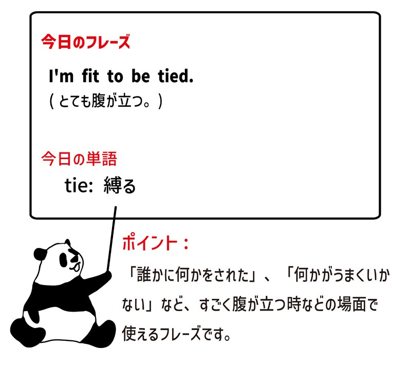 fit to be tiedのフレーズ