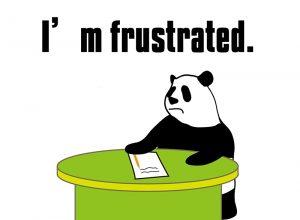 I'm frustrated!のパンダの絵