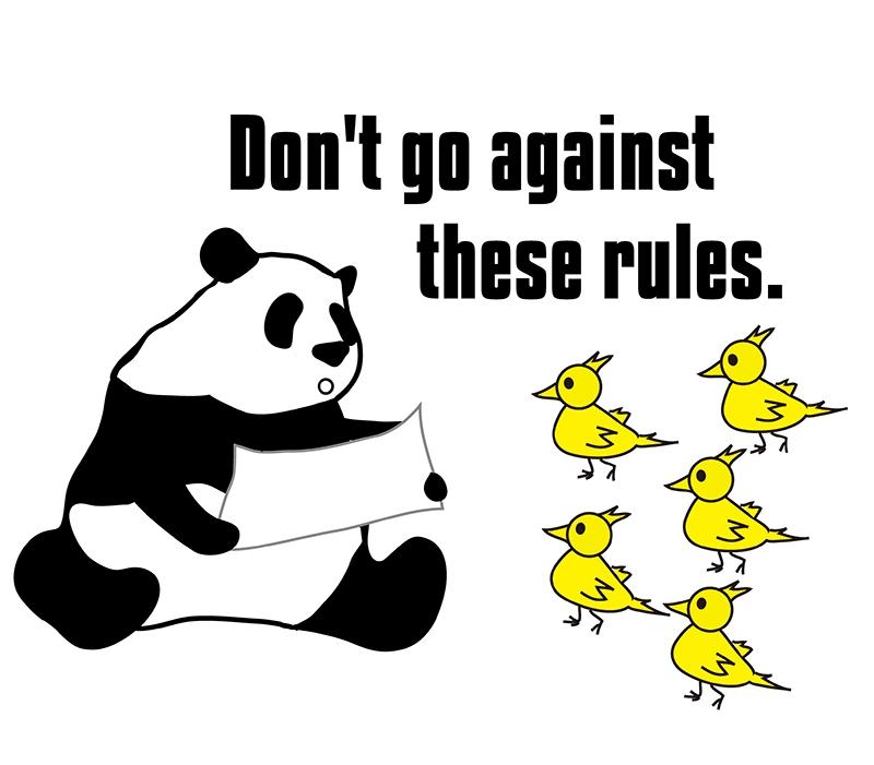 go againstのパンダの絵