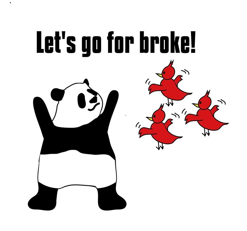 go for brokeのパンダの絵