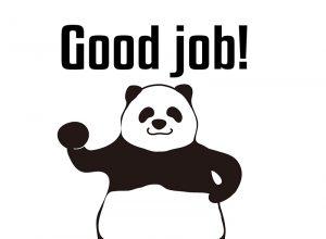 Good job!のパンダの絵