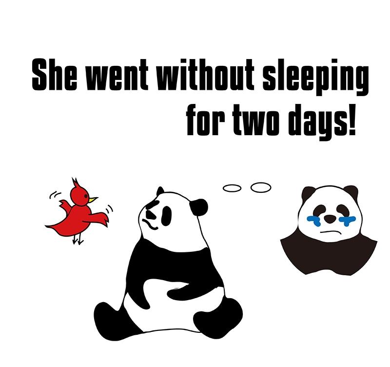 go without のパンダの絵