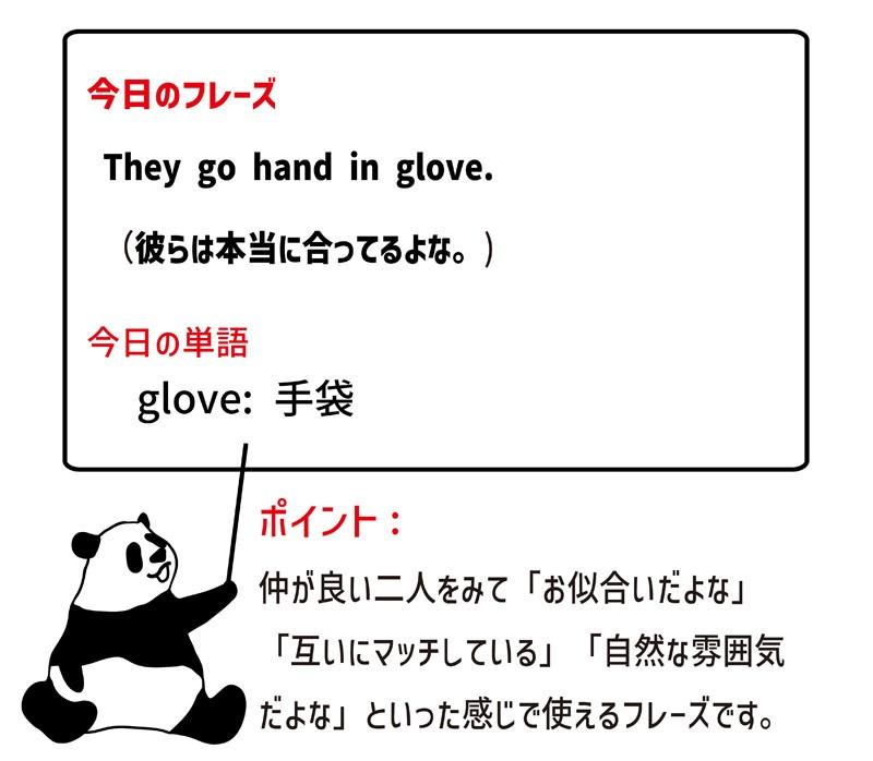 hand in gloveのフレーズ