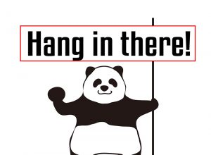 Hang in there!のパンダの絵
