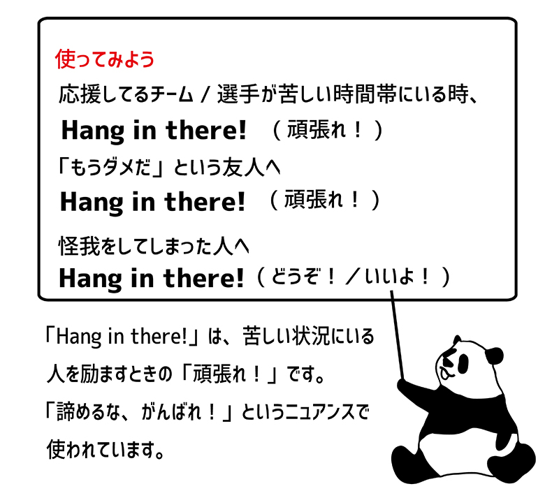 Hang in there!の使い方
