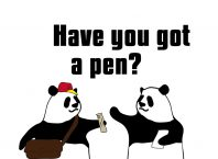 Have you got a pen?のパンダの絵