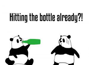 hit the bottleのパンダの絵