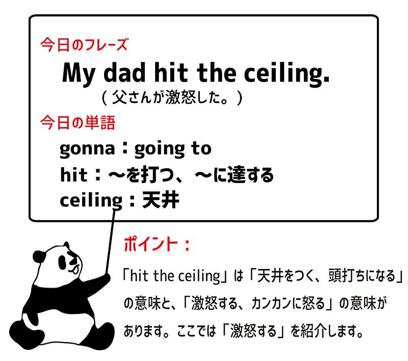 英語のイディオム:hit the ceilingの意味と使い方 | Eigo-lab