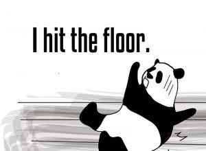 hit the floorのパンダの絵