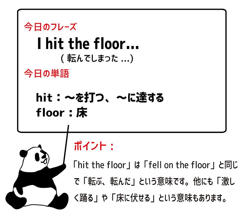 hit the floorのフレーズ