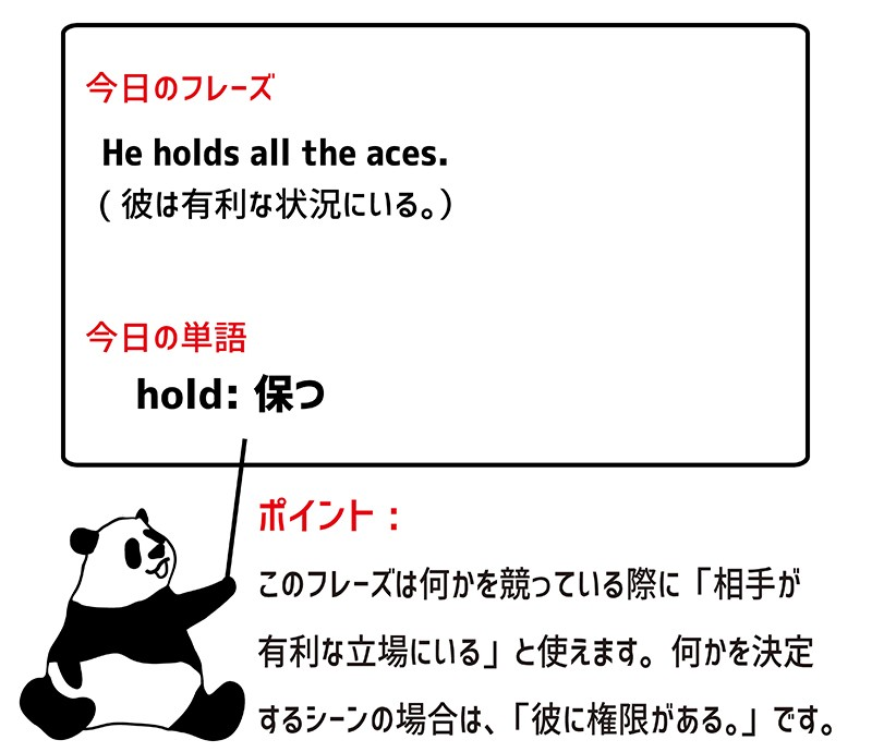 hold all the acesのフレーズ
