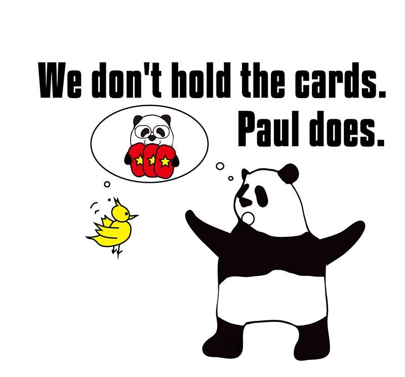 hold the cardsのパンダの絵