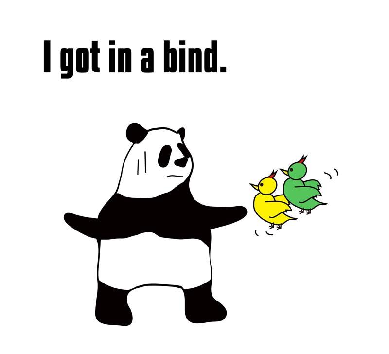 in a bindのパンダの絵