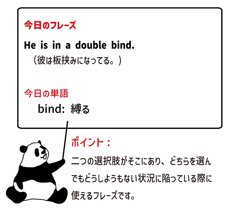 in a double bindのフレーズ