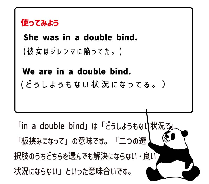 in a double bindの使い方