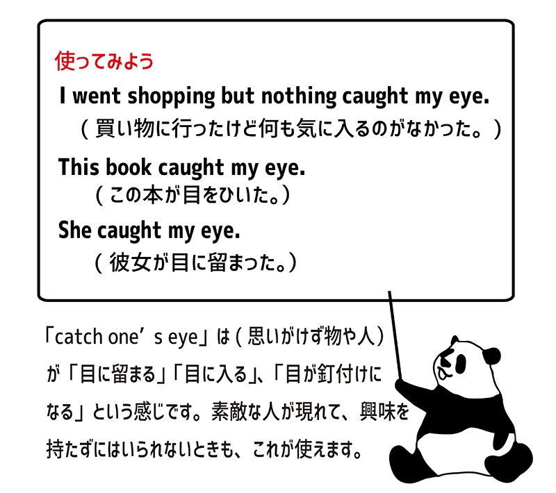 catch one's eyeの使い方