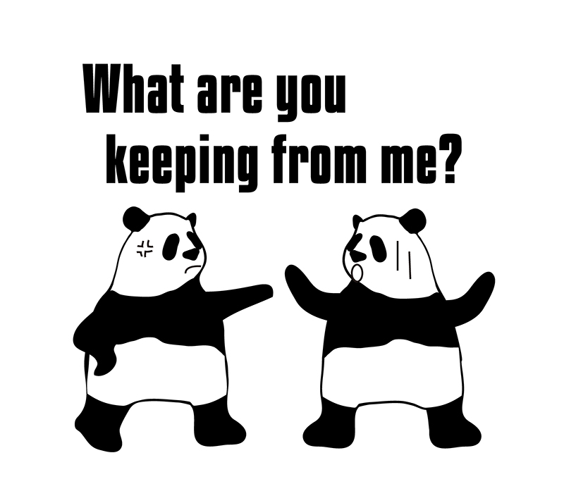 keep from のパンダの絵
