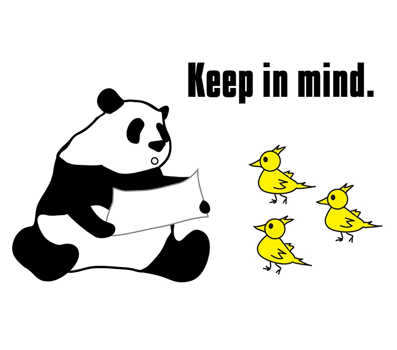 keep something in mindのパンダの絵