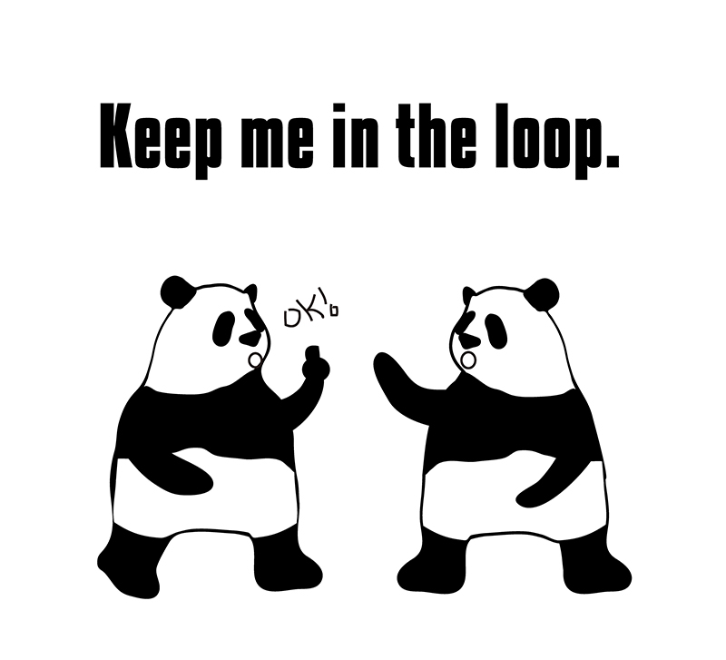 keep in the loopのパンダの絵