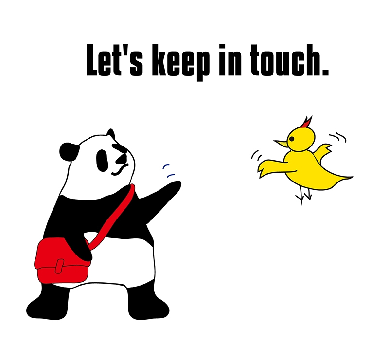 keep in touchのパンダの絵