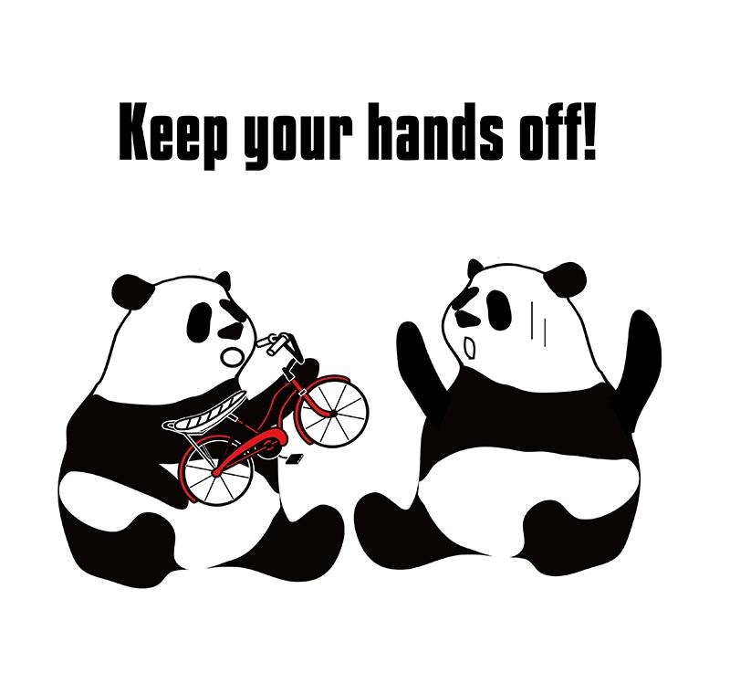 keep offのパンダの絵