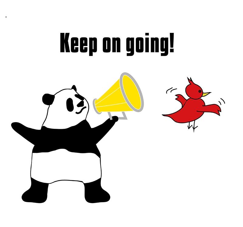 keep onのパンダの絵