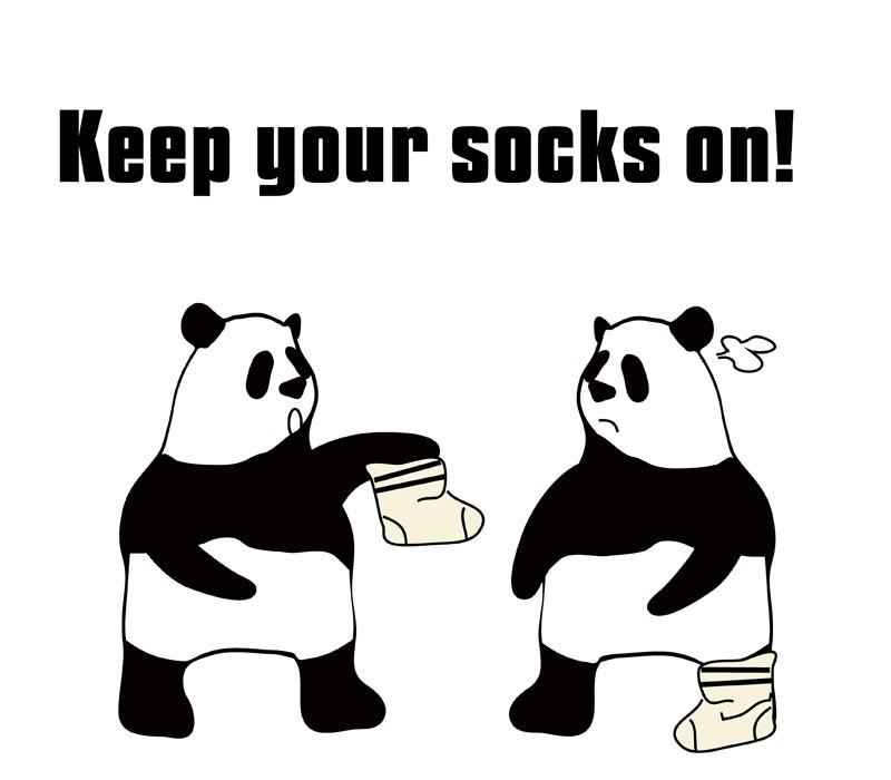 keep one's socks onのパンダの絵