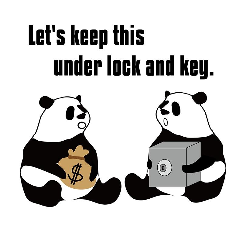 keep underのパンダの絵