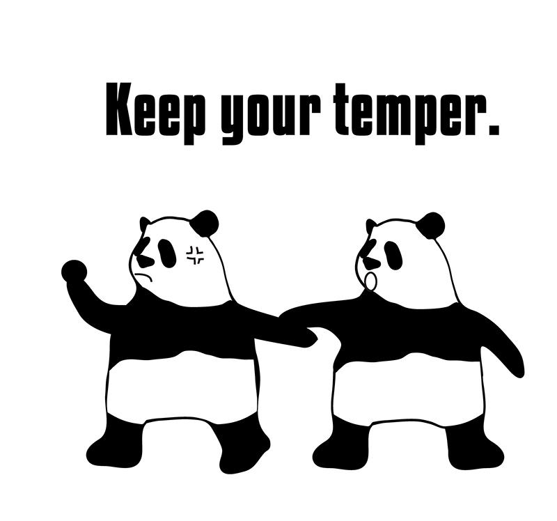 keep one's temperのパンダの絵
